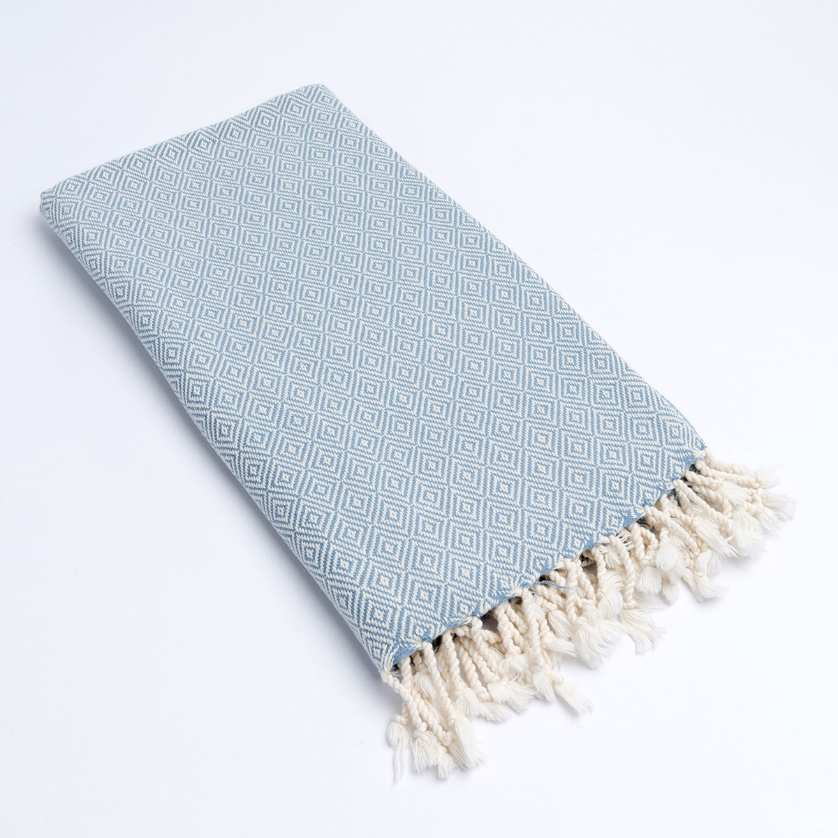 Diamond Plus Light Blue Peshtemal/Throw